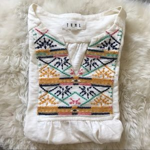 THML Aztec Embroidered Top